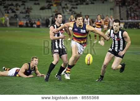 Melbourne - August 21:  Action From Collingwood's Win Over Adelaide - August 21, 2010 In Melbourne,