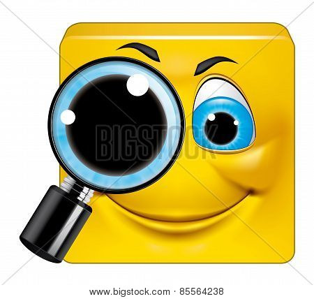 Square Emoticon  Searching