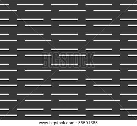 Monochrome Pattern With White Horizontal Brick Stripes