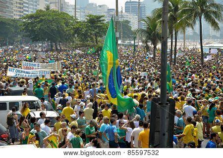 Manifestation in Rio de Janeiro