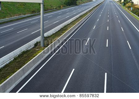 empty eight-lane highway