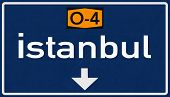 Istanbul Turkey Highway Road Sign 3D artwork poster