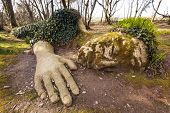 Mud Maiden at the Lost Gardens of Heligan, Cornwall, England. poster