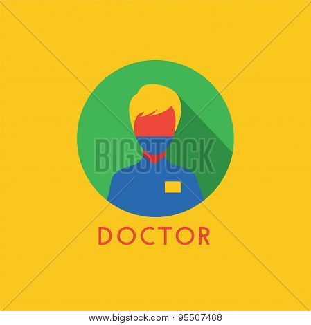 Doctor Icon Vector Logo. Health, Tools or Tooth and Dentist symbols. Stock design element.