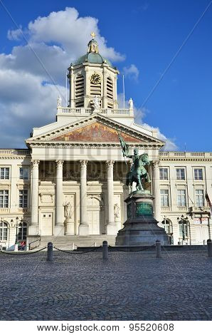 Church of Saint Jacques-sur-Coudenberg in Royal Square (Place Royale or Koningsplein) Brussels Belgium poster