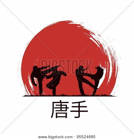 Men Are Engaged In Karate.
