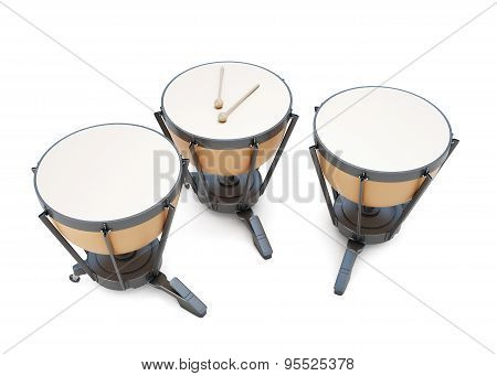 Timpani 3D Illustration