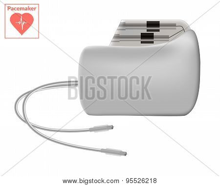 Pacemaker Isolated On White Background. Cardio Concept.