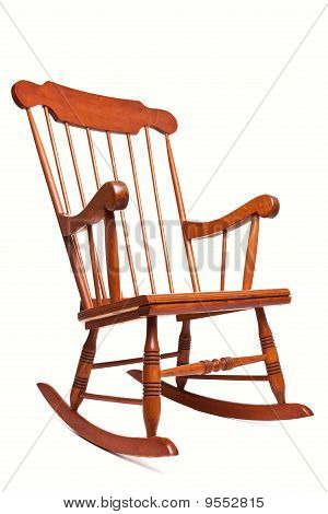 Rocking Chair Isolated On A White Background
