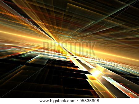 abstract gold 3d grid background texture