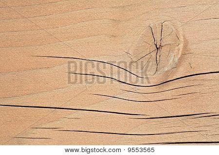 Gnarled board.