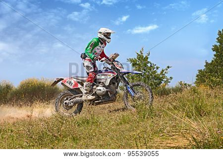 Biker Riding Enduro Motorcycle Bmw Gs 1200 Rr