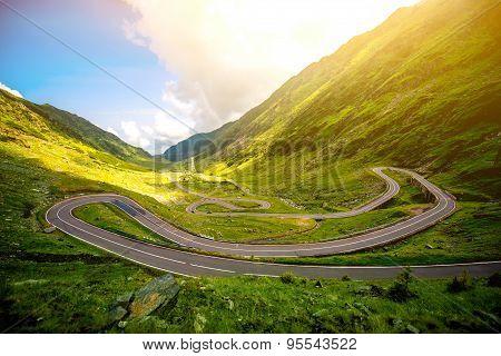 Landscape with serpantine road