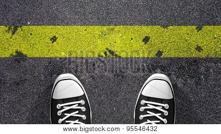 Cross the yellow line