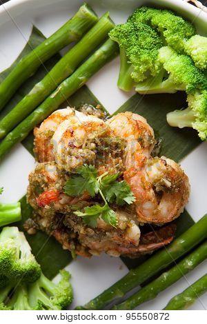 Shrimp Scampi with Vegetables