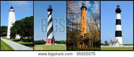 Outer banks lighthouses collage