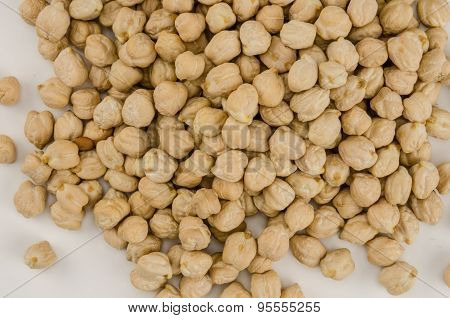 Chick Peas Spilled Close Up