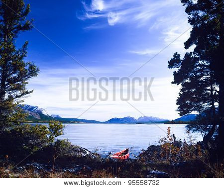 Tagish Lake Yukon Canada Red Canoe Wilderness Trip