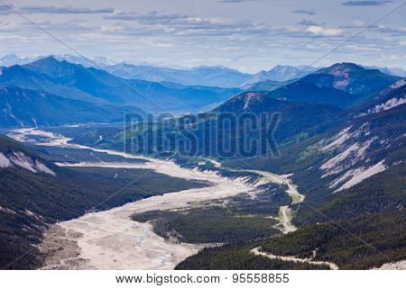 Macdonald Creek Glacial Valley Bc Canada