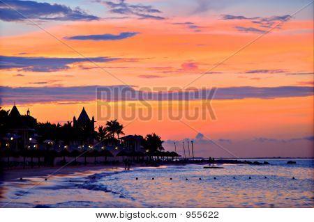 Cancun-Sonnenuntergang