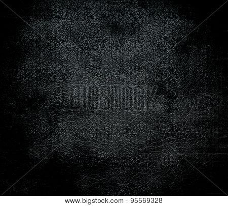 Grunge background of dark gunmetal leather texture