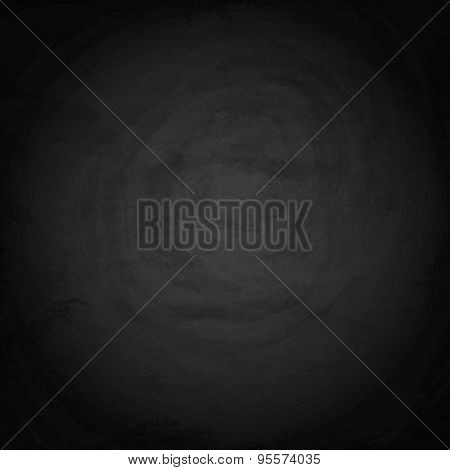 Black Blank Chalkboard Background. Vector Texture