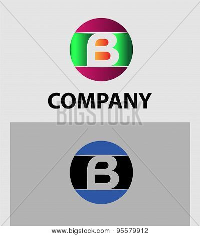 Set of letter B logo icons design template elements. Collection of vector signs