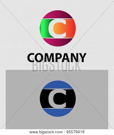 Set of letter C logo icons design template elements. Collection of vector signs