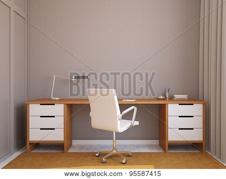 Modern Office Interior.