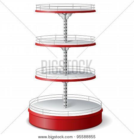Vector Round Supermarket Shelf