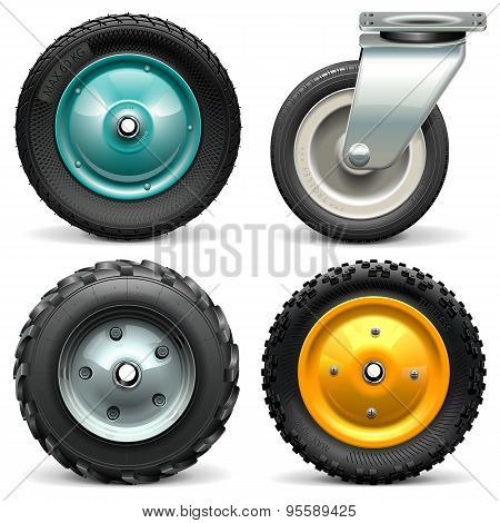 Vector Wheelbarrow Wheel