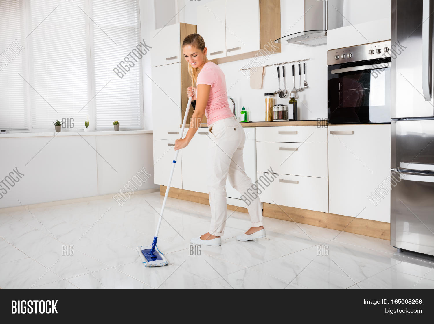 Old fashioned house cleaning