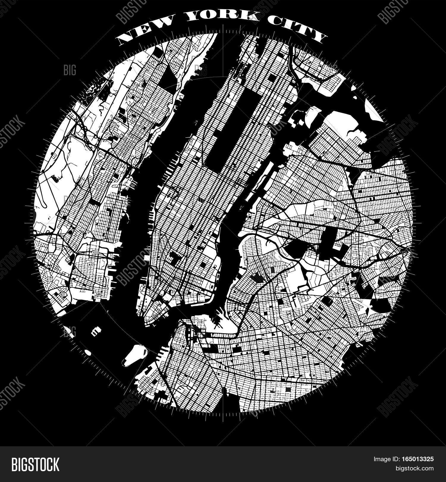 Free Map Of New York City.New York City Vector Photo Free Trial Bigstock