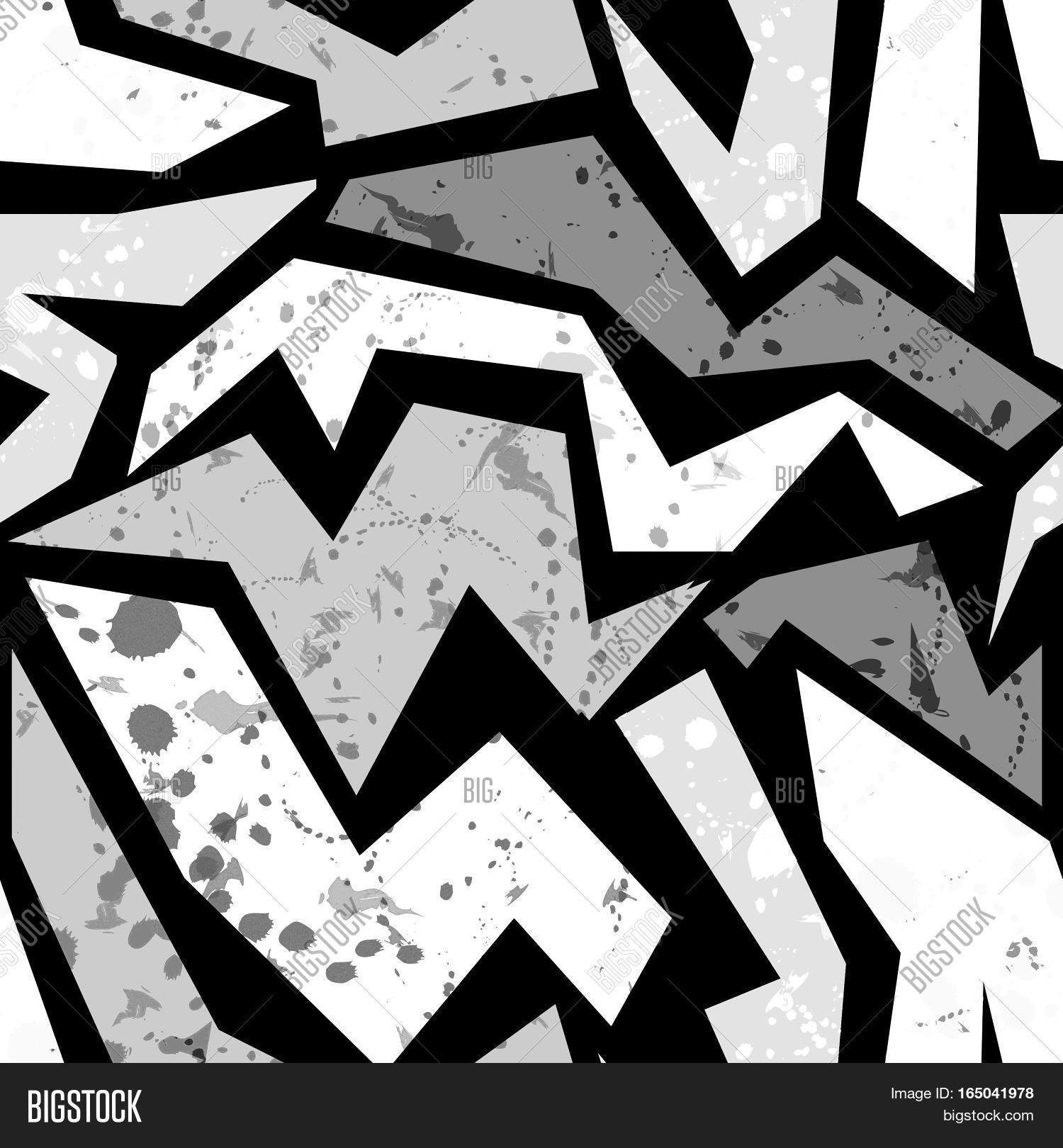 Seamless Grunge Graffiti Pattern Image & Photo | Bigstock