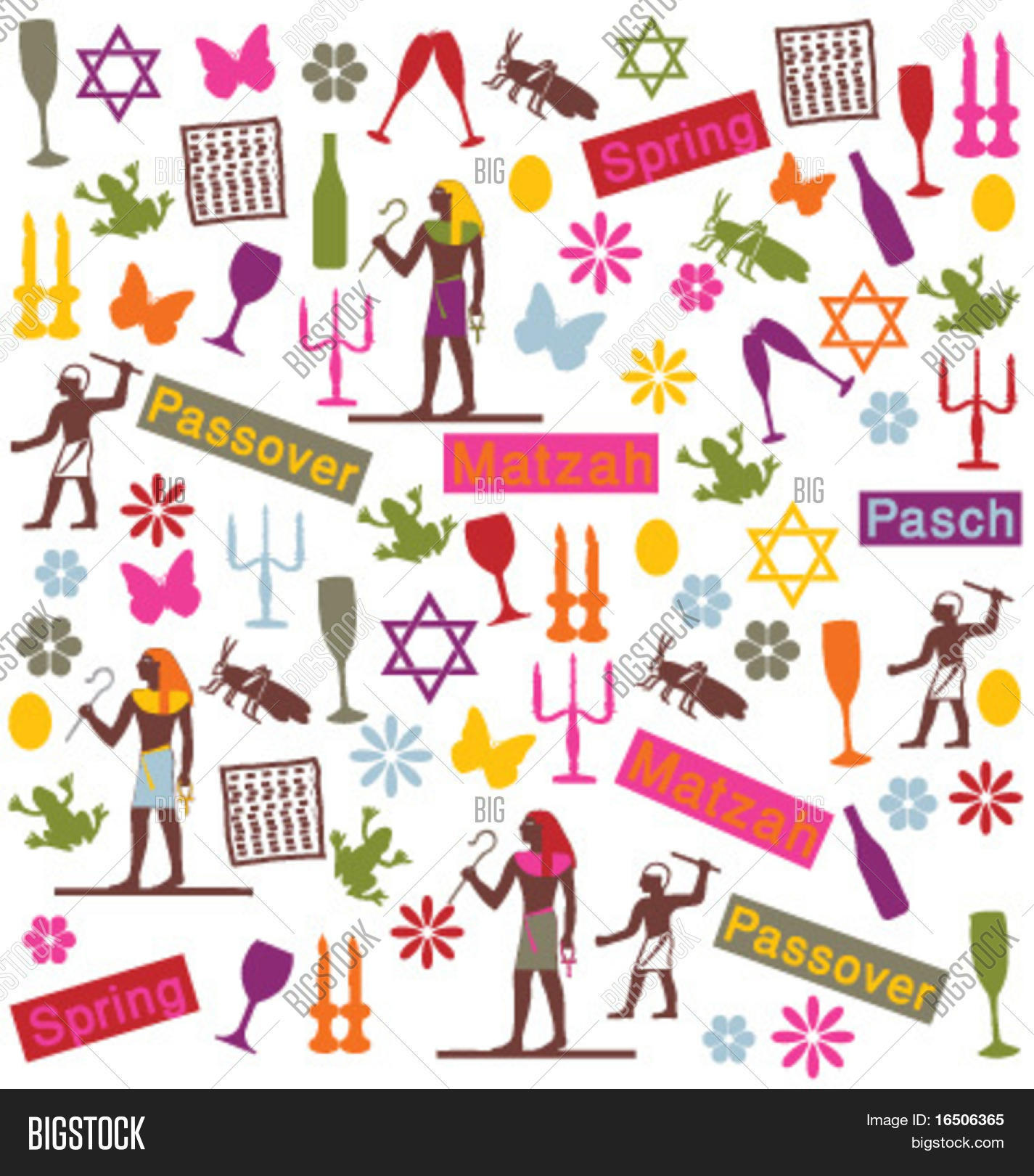 Passover Symbols Vector Photo Free Trial Bigstock