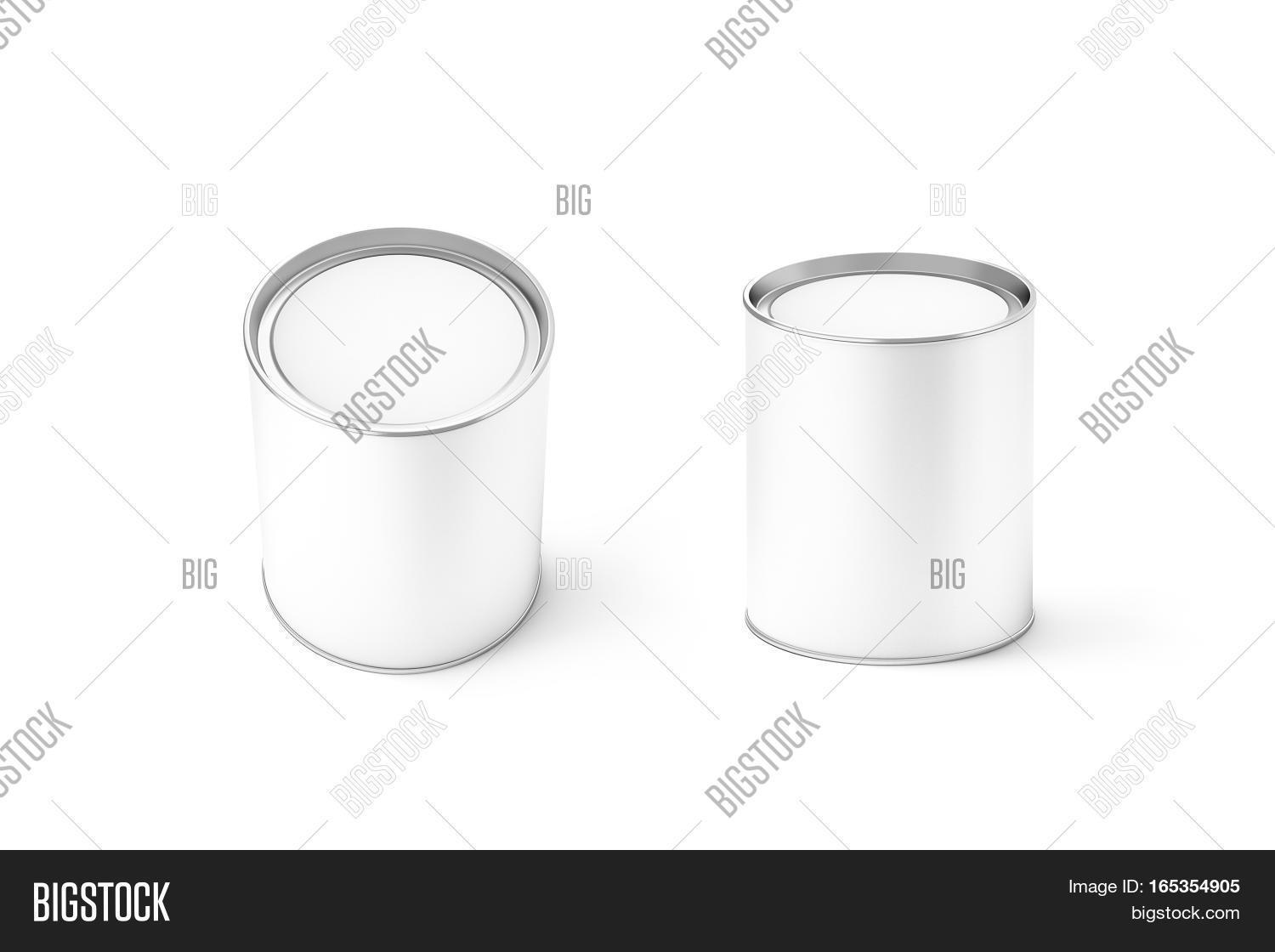 Blank White Round Can Image Photo Free Trial Bigstock