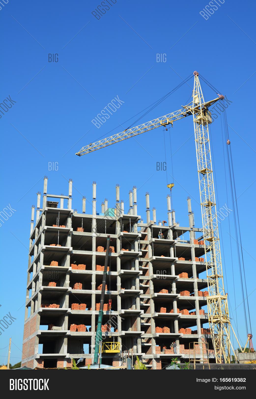 building cranes on image photo free trial bigstock