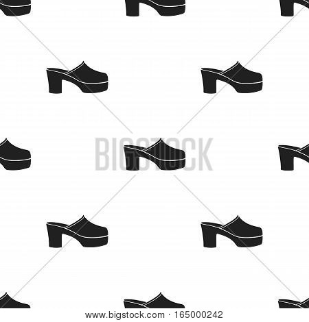 Klogs icon in  black style isolated on white background. Shoes pattern vector illustration.