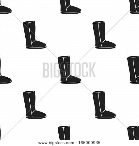 Boots icon in black style isolated on white background. Shoes pattern vector illustration.