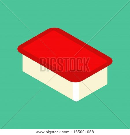 Ketchup Dip Pack  Isolated. Sauce For Fast Food On White Background