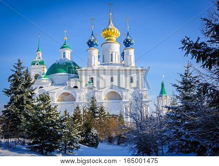 View of the Monastery of St. Jacob Saviour Rostov the Great, Russia