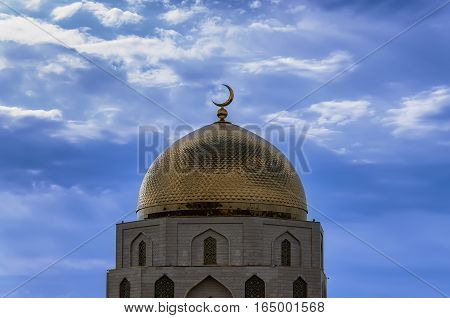 Tower minaret of a mosque in the city of Bulgar Tatarstan