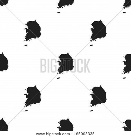 South Korea icon in  black style isolated on white background. South Korea pattern vector illustration.