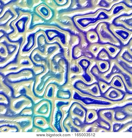 Abstract plastic 3d seamless blue synthetic texture