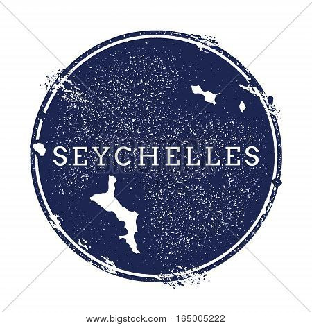 Seychelles Vector Map. Grunge Rubber Stamp With The Name And Map Of Island, Vector Illustration. Can
