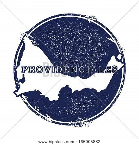 Providenciales Vector Map. Grunge Rubber Stamp With The Name And Map Of Island, Vector Illustration.