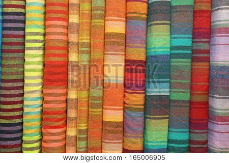 Colorful Patterned Fabrics For Sale