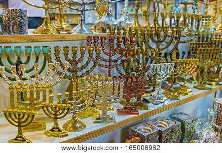 The Souvenir Menorahs