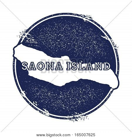 Saona Island Vector Map. Grunge Rubber Stamp With The Name And Map Of Island, Vector Illustration. C