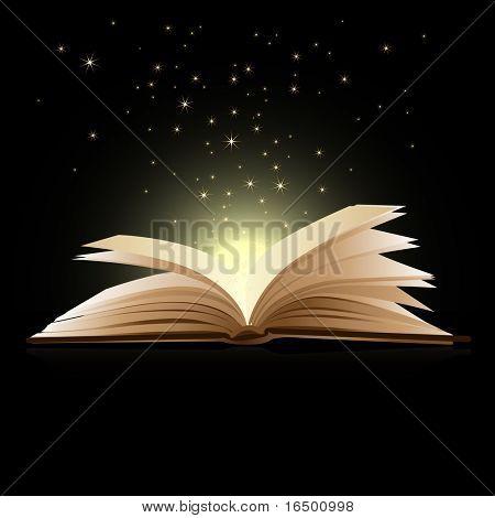 Open book magic - Education concept poster